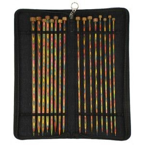 Set Agujas Rectas KnitPro Symfonie Wood de  35 cm