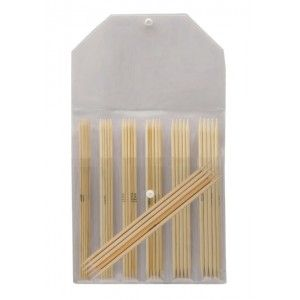 Double Pointed Needle Set Bamboo 20 cm