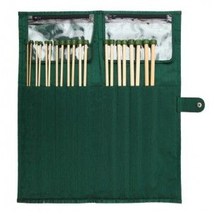 Bamboo Single Pointed Needle Set - 30 cm