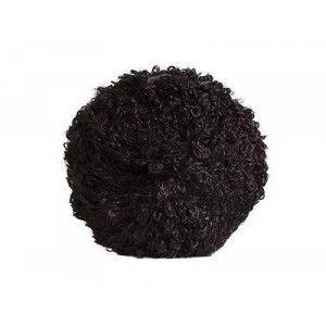 Mohair para Pelo de Muñeca - Negro Rizado