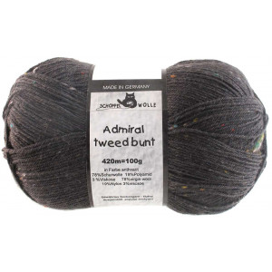 Admiral Tweed Bunt Anthrazit