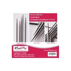 KnitPro Nova Metal Set Dobles Puntas 15 cm