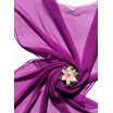 Fular de seda para Nuno de 180x55 purpura